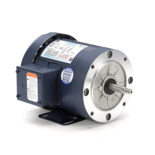 113029.00 Leeson |  1 hp 3600 RPM 56J Frame TEFC C-Face (Rigid Base) 230/460V