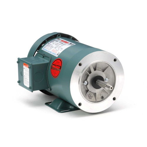 119452.00 Leeson |  1.5 hp 3600 RPM 56J Frame TEFC C-Face (Rigid Base) 230/460V