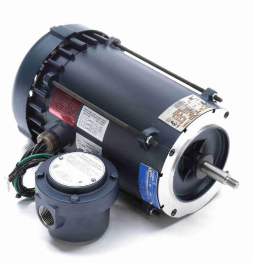 119424.00 Leeson |  1 hp 3600 RPM 56J Frame TEFC C-Face (No Base) Expl. Proof 230/460V