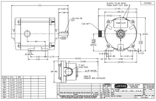 1/3 hp 1725 RPM 56 Frame TENV 115/208-230V Explosion Proof