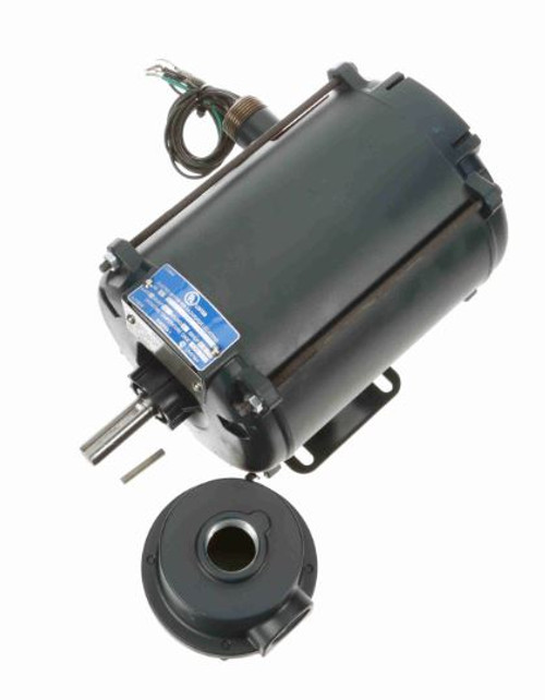1/2 hp 3450 RPM 56 TENV 208-230/460V Explosion Proof Leeson Electric Motor # 111934