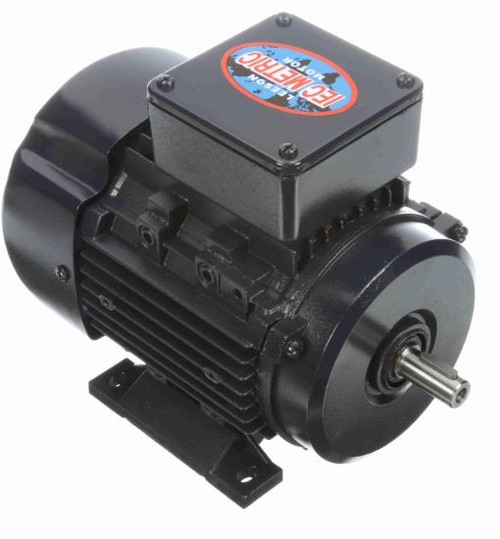 1/3 hp 0.25 kw 1200 RPM 80 Frame 230/460V Leeson Electric Metric Motor # 192022