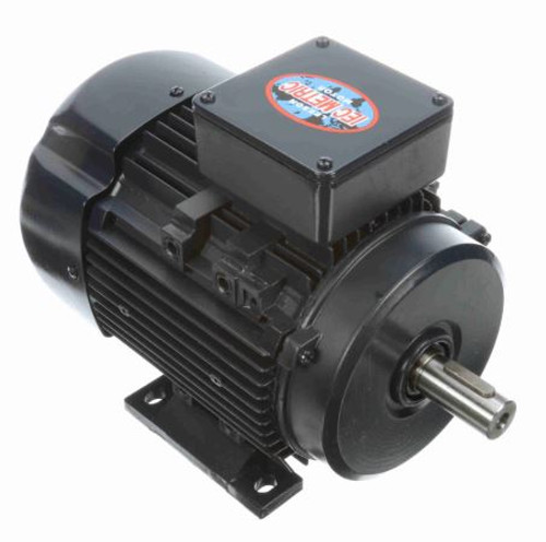 192241.00 Leeson |  1 hp .75 kw 1800 RPM D80 Frame 230/460V  Electric Metric Motor
