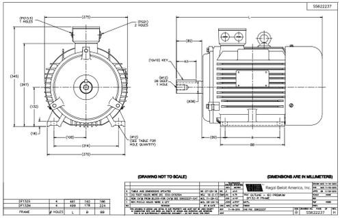10 hp 7.5 kw 1800 RPM 132M Frame 230/460V Marathon