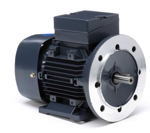 1/3 HP 0.25 kw 1200 RPM 80D Frame 230/460V Leeson Electric Metric Motor # 192026