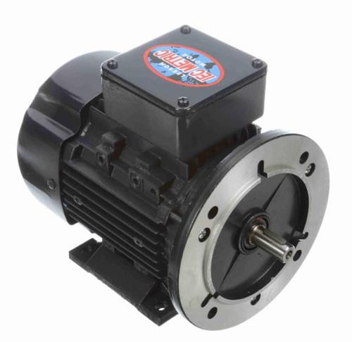 1/2 hp 0.37 kw 3600 RPM 71D Frame 230/460V Leeson Electric Metric Motor # 192034