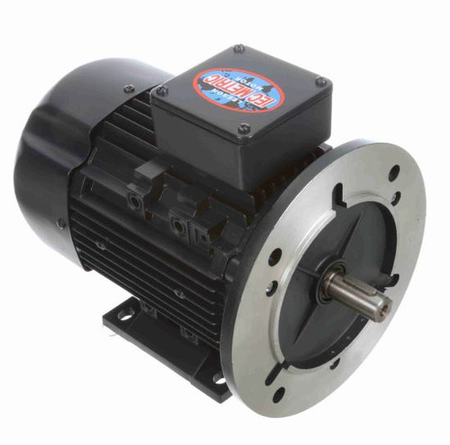 1 hp .75 kw 3600 RPM 80D Frame 230/460V Leeson Electric Metric Motor # 192265