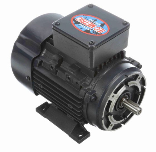 1/4 hp 0.18 kw 1800 RPM 63C Frame 230/460V TEFC C-Face Leeson Electric Metric Motor # 192018