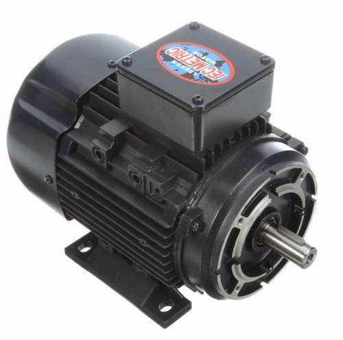 1/3 hp 0.25 kw 3600 RPM 63C Frame 230/460V TEFC C-Face Leeson Electric Metric Motor # 192027