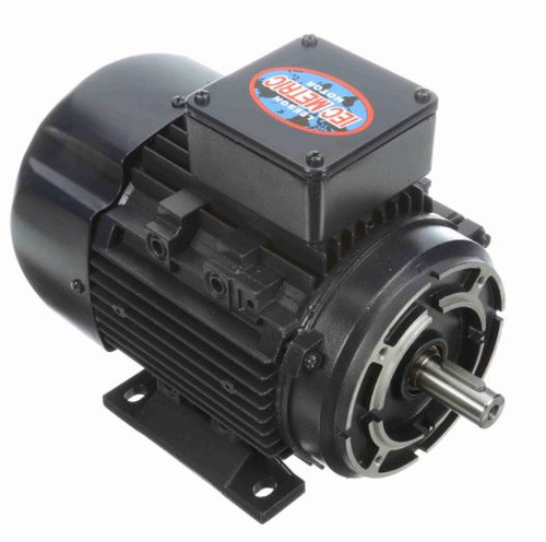 1/3 hp 0.25 kw 1800 RPM 71C Frame 230/460V TEFC C-Face Leeson Electric Metric Motor # 192028