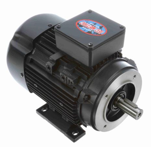 192248.00 Leeson |  1.5 hp 1.1 kw 3600 RPM 80C Frame 230/460V TEFC C-Face  Electric Metric Motor