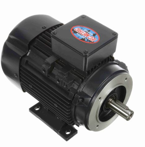 192213.00 Leeson |  2 hp 1.5 kw 3600 RPM 90SC Frame 230/460V TEFC C-Face  Electric Metric Motor