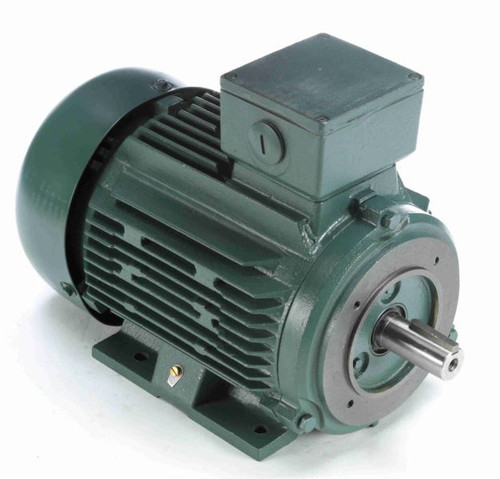 193366.60 Leeson |  5.5 hp 4 kw 1200 RPM 132MC Frame 230/460V TEFC C-Face  Electric Metric Motor