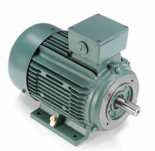 10 hp 7.5 kw 3600 RPM 132C Frame 230/460V TEFC C-Face Leeson Electric Metric Motor # 193370