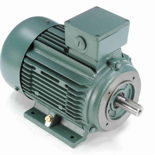 25 hp 18.5 kw 3600 RPM 160LC Frame 230/460V TEFC C-Face Leeson Electric Metric Motor # 193378