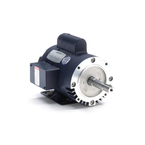120996.00 Leeson |  1 hp 1740 RPM 143JM Frame 115/208-230V ODP  Close Couple Motor