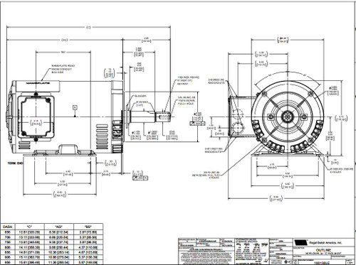122076.00 Leeson |  1.5 hp 1740 RPM 145JM Frame ODP 208-230/460 Volts