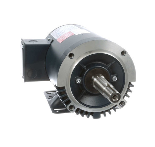 1.5 hp 1740 RPM 145JM Frame ODP 208-230/460V Leeson Electric Motor # 122076