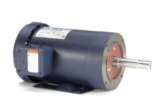 2 hp 3450 RPM 145JM Frame TEFC 230/460V Leeson Electric Motor # 122089