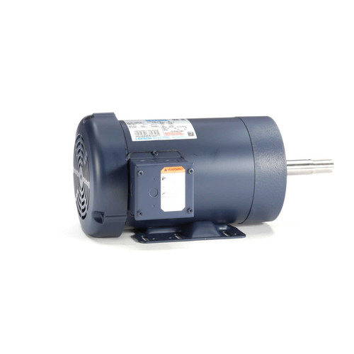 2 hp 1740 RPM 145JM Frame TEFC 230/460V Leeson Electric Motor # 122091
