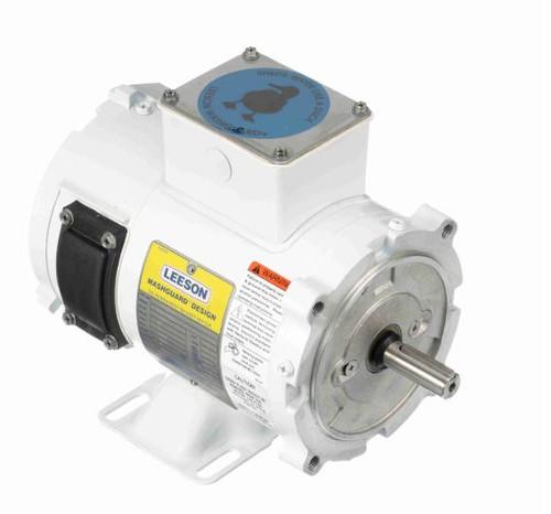 108423.00 Leeson |  1/4 hp 1800 RPM 56C TENV Frame 90 volts DC Wash Down Duty