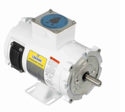 108424.00 Leeson |  1/3 hp 1800 RPM 56C TENV Frame 90 volts DC Wash Down Duty