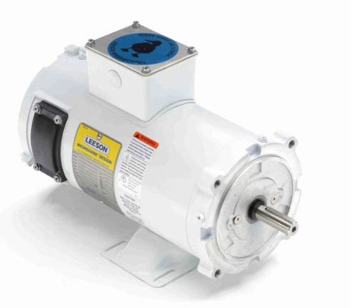 108227.00 Leeson |  1/2 hp 1800 RPM 56C TENV Frame 180 volts DC Wash Down Duty