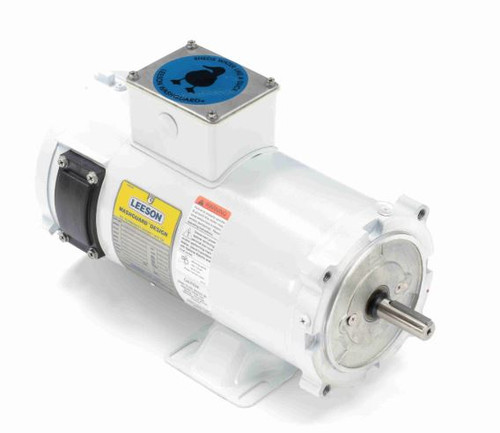 108229.00 Leeson |  3/4 hp 1800 RPM 56C TENV Frame 180 volts DC Wash Down Duty