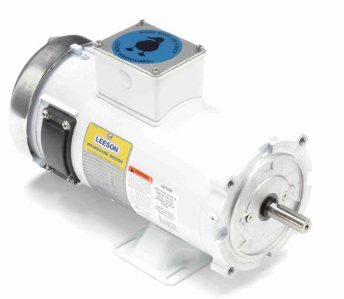 108230.00 Leeson |  1 hp 1800 RPM 56C TEFC Frame 90 volts DC Wash Down Duty