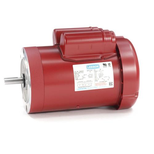 1.5 HP 1725 RPM 56C Frame (Farm Duty) 115/230V Leeson Electric Motor # 110495