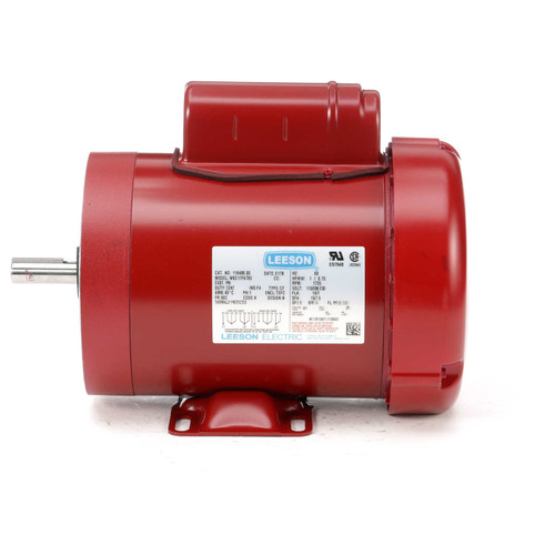 116488.00 Leeson |  1 hp 1725 RPM 56C w/base 115/230V  Farm Duty