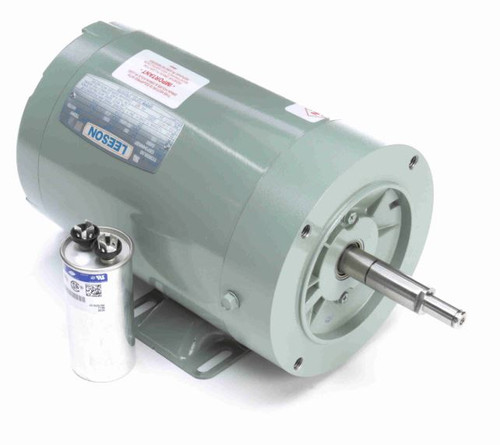 1/2 hp 3450 RPM 56CZ Frame 230V Milk Transfer (Babson 27732) Pump Motor Leeson Electric # 113939