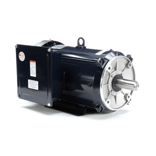 10 hp 1740 RPM 215TC 230/460V Cat Fish Pond Motor Leeson # 140833