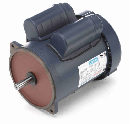 1 hp 1725 RPM 56YZ 115/230V Leeson Feed Auger Drive Motor # 112615
