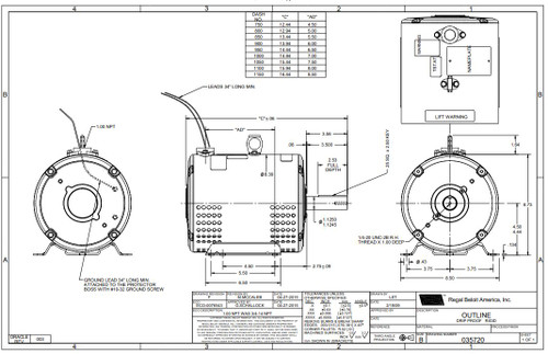5-7.5 hp 3450 RPM 184TZ 208-230/460V; 3-phase Crop Dryer