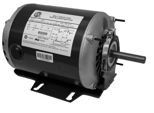 1/2 hp 1725 RPM 48 Frame 115/230V Belt Drive Furnace Motor Ball Brg # PD6006