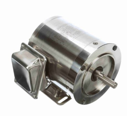 191204.00 Leeson    1/2 hp 1800 RPM 56C Frame TENV 208-230/460 Volts Stainless Steel