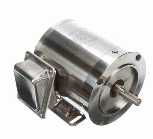 3/4 hp 1800 RPM 56C Frame TENV 208-230/460V Stainless Steel Leeson Electric Motor # 191207