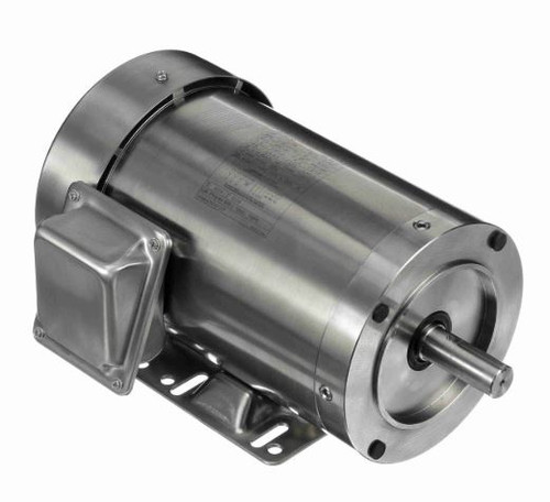 191486.00 Leeson |  1 hp 3600 RPM 143TC Frame TEFC 208-230/460 Volts Stainless Steel