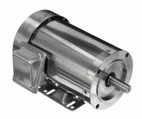 1.5 hp 3600 RPM 143TC Frame TEFC 208-230/460V Stainless Steel Leeson Electric Motor # 191488