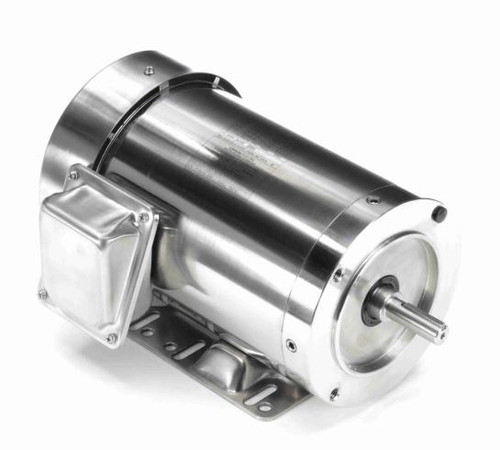 1.5 hp 1800 RPM 56HC Frame TEFC 208-230/460V Stainless Steel Leeson Electric Motor # 191561