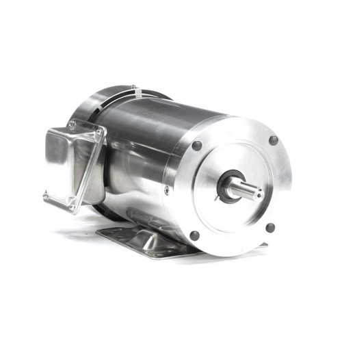 2 hp 1800 RPM 56HC Frame TEFC 208-230/460V Stainless Steel Leeson Electric Motor # 191563