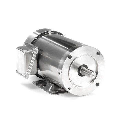 3 hp 3600 RPM 145TC Frame TEFC 208-230/460V Stainless Steel Leeson Electric Motor # 191492