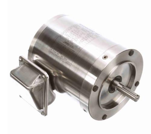 191202.00 Leeson |  1/3 hp 1800 RPM 56C Frame TENV 208-230/460V Stainless Steel