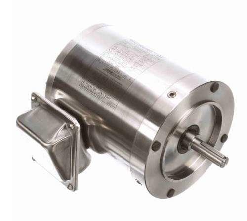 191205.00 Leeson |  1/2 hp 1800 RPM 56C Frame TENV 208-230/460 Volts Stainless Steel
