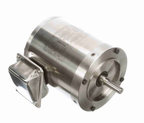 191208.00 Leeson |  3/4 hp 1800 RPM 56C Frame TENV 208-230/460 Volts Stainless Steel