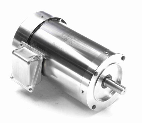 2 hp 1800 RPM 56C Frame TEFC 208-230/460V Stainless Steel Leeson Electric Motor # 191569