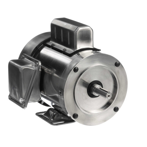 191477.00 Leeson |  3/4 hp 1800 RPM 56C 115/230V, TEFC Stainless Steel w/Base