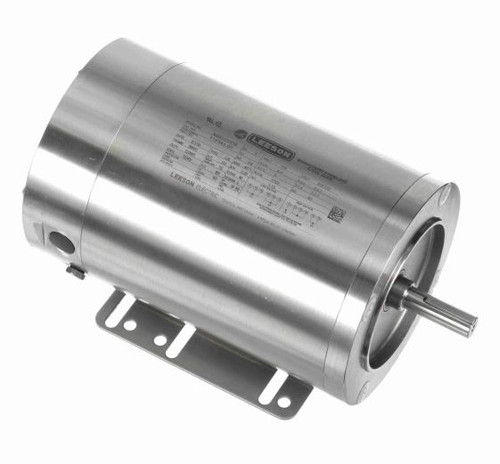 1/3 hp 1800 RPM 56HC 115/208-230V TENV Stainless Steel w/Base Leeson Electric Motor # 116343