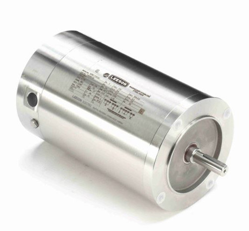 1/2 hp 1800 RPM 56C 115/208-230V Stainless Steel No Base Leeson Electric Motor # 116350
